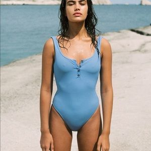 LSPACE RIBBED FLOAT ON ONE PIECE SWIMSUIT